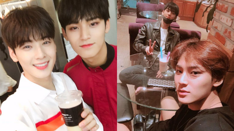 기사 대표 이미지:[SBS Star] ASTRO Cha Eun-woo & SEVENTEEN MINGYU Show Off Their 97-line Friendship