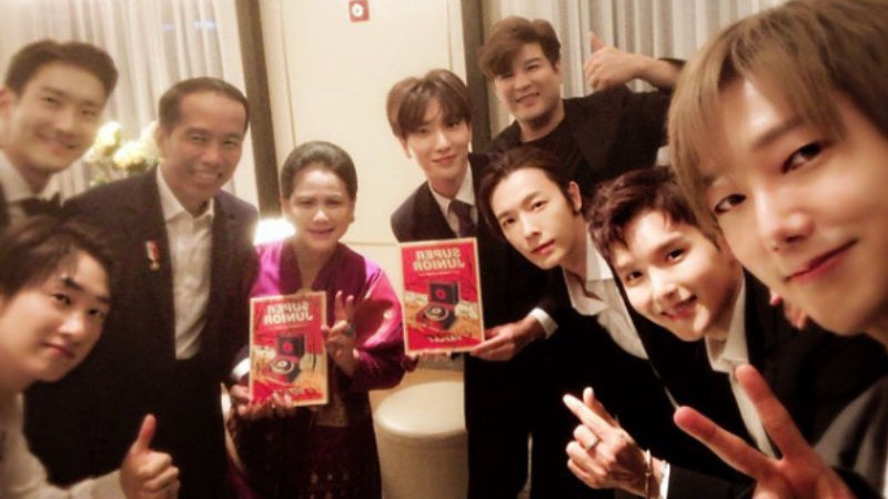 기사 대표 이미지:[SBS Star] Super Junior Meets Indonesian President and First Lady!