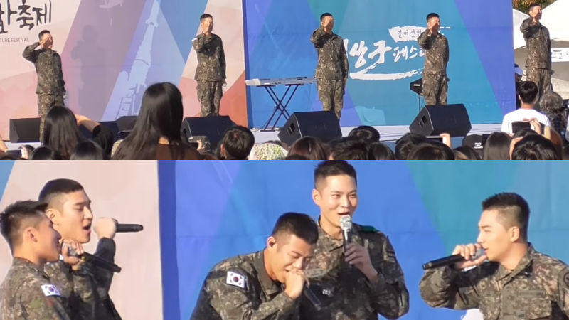 기사 대표 이미지:[SBS Star] VIDEO: TAEYANG·DAESUNG·Beenzino·Joo Won·Ko Kyoung Pyo Hit the Stage Together for a Military Festival