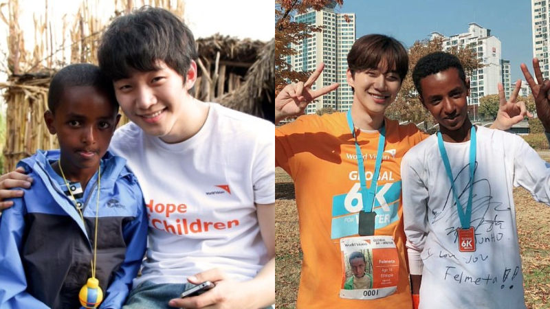 기사 대표 이미지:[SBS Star] 2PM JUNHO Reunites with the Ethiopian Boy He Has Been Sponsoring for 8 Years