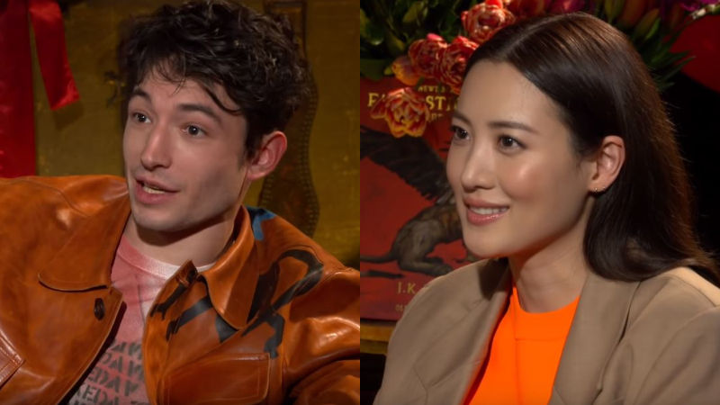 기사 대표 이미지:[SBS Star] Ezra Miller Gets Mad at Racist Comment That Was Directed at Claudia Kim