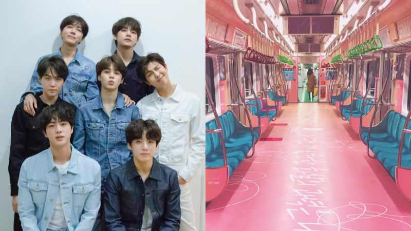기사 대표 이미지:[SBS Star] BTS Receives an Unforgettable Gift from Fans: a BTS Subway Car!