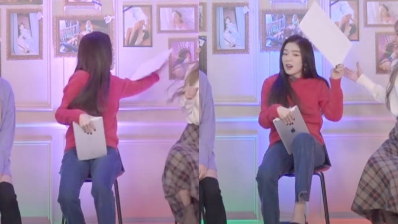 기사 대표 이미지:[SBS Star] Red Velvet IRENE Catches the Picture Frame Falling Behind Her Back!