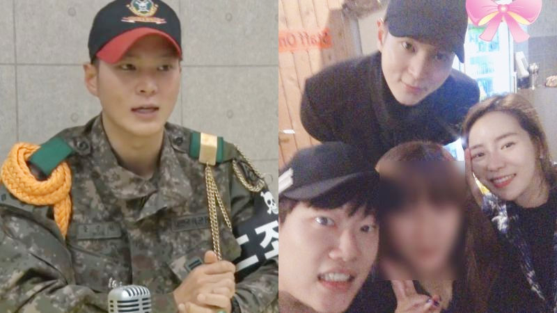 기사 대표 이미지:[SBS Star] Joo Won Spotted Spending His Day Off from the Military with His Labelmates