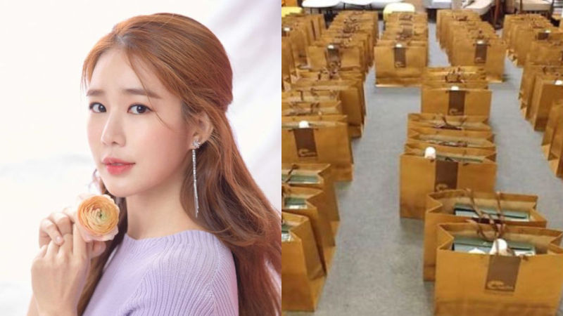 기사 대표 이미지:[SBS Star] Yoo In Na Gifts 100 Pairs of Boots for the Staff Members of Her Drama
