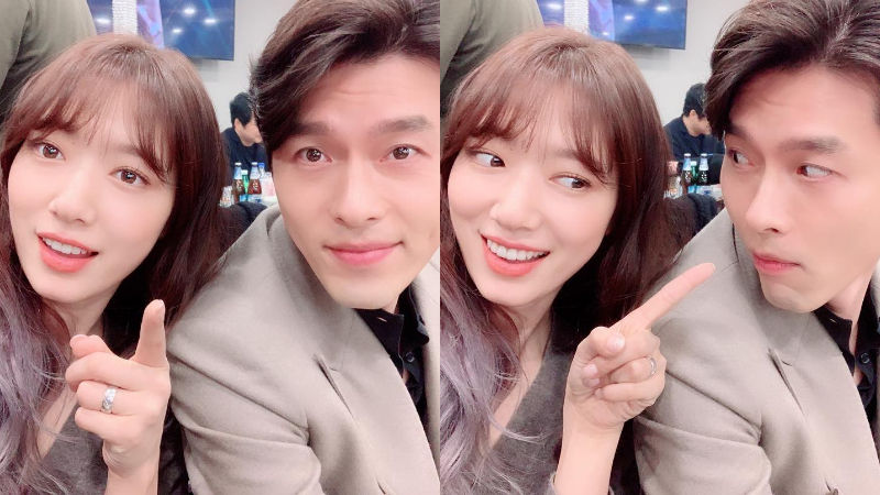 기사 대표 이미지:[SBS Star] Park Shin Hye Shares the Cutest Couple Photos with Hyun Bin