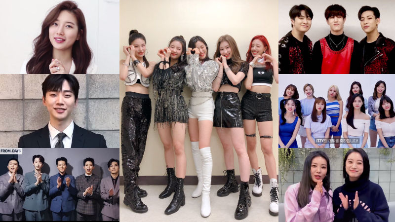 기사 대표 이미지:[SBS Star] VIDEO: JYP Artists Show Support for the New Girl Group ITZY
