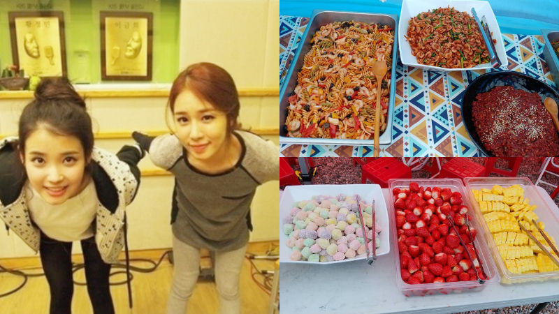 기사 대표 이미지:[SBS Star] IU Sends Tons of Mouth-watering Food to Yoo In Nas Drama Set