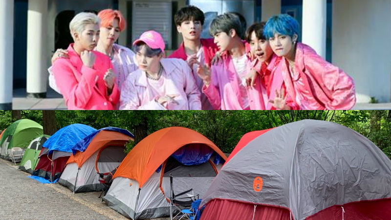 기사 대표 이미지:[SBS Star] ARMY Camps Out in the Central Park for BTS GMA Summer Concert