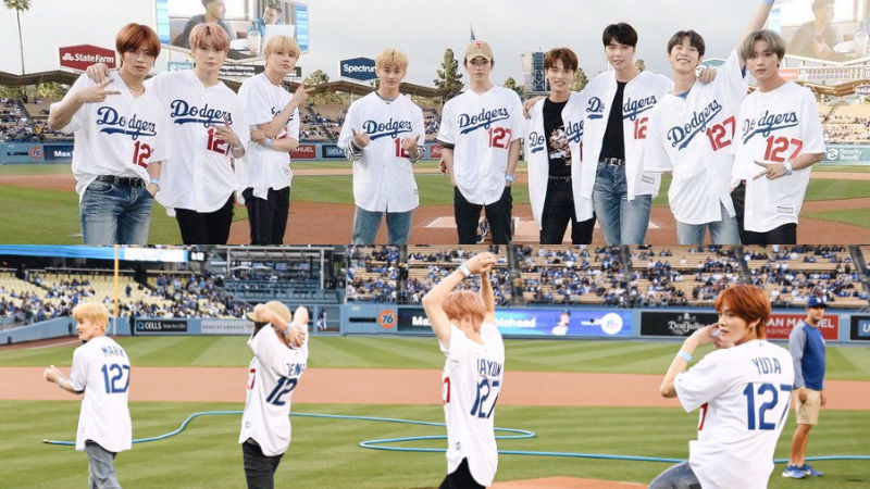 기사 대표 이미지:[SBS Star] VIDEO: NCT 127 Throws Out the Ceremonial First Pitch at Dodger Stadium
