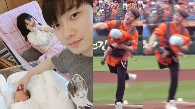 기사 대표 이미지:[SBS Star] FTISLAND Choi Min Hwan Under Fire for Throwing Dangerous Pitch While Holding His Son