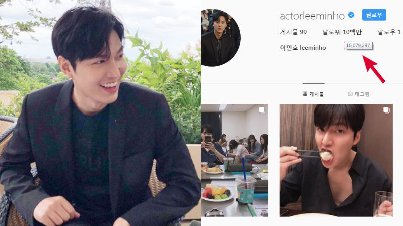 기사 대표 이미지:[SBS Star] Lee Minho Proves His Soaring Popularity with a Rapidly Increasing Number of Social Media Followers