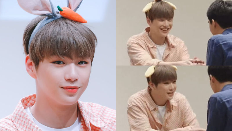 기사 대표 이미지:[SBS Star] Kang Daniel Welcomes Male Fan Who Came to His Fan Signing Event