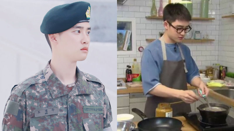 기사 대표 이미지:[SBS Star] EXO D.O. Can Continue Pursuing His Passion for Cooking in the Military?