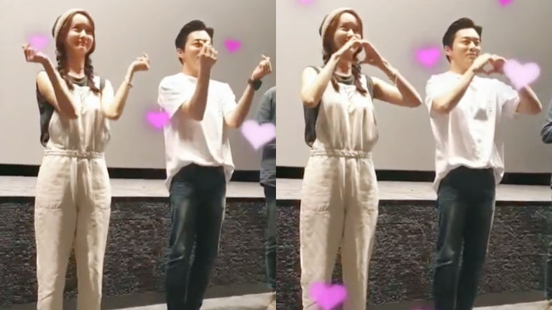 기사 대표 이미지:[SBS Star] VIDEO: Yoona & Cho Jung Seok Attack Everyones Heart with Their Cute Heart Dance
