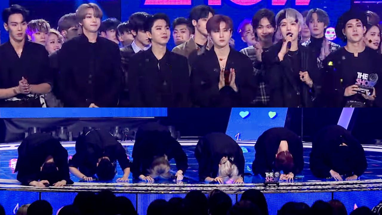 기사 대표 이미지:[SBS Star] VIDEO: MONSTA X Shows the Deepest Gratitude to Fans After Winning on The Show