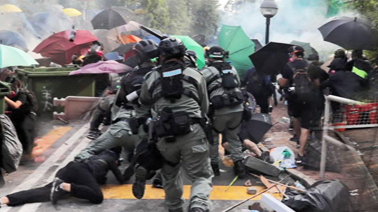 홍콩 시위 격화