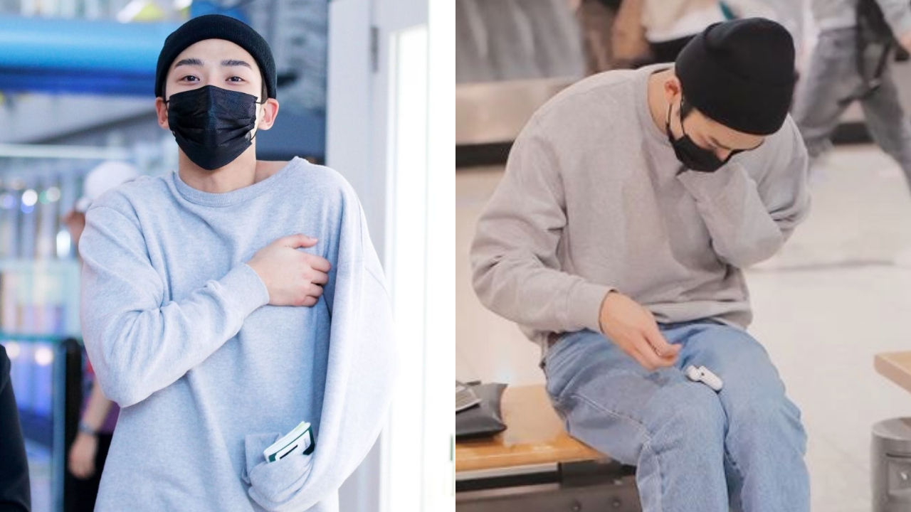 기사 대표 이미지:[SBS Star] Fans Laugh at a Reason Why SF9 RO WOON Keeps Covering the Logo on His Crew Neck