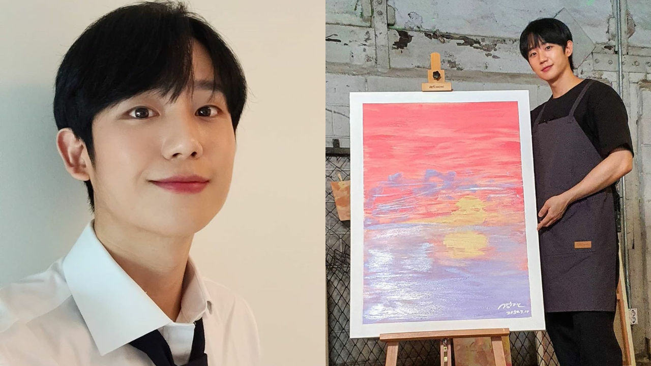 기사 대표 이미지:[SBS Star] Jung Hae In Shows Off His Amazing Skills in Art