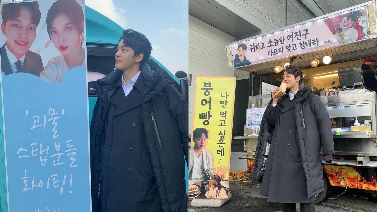 기사 대표 이미지:[SBS Star] Yeo Jin Goo Receives Trucks Loaded with Food & Support from IU