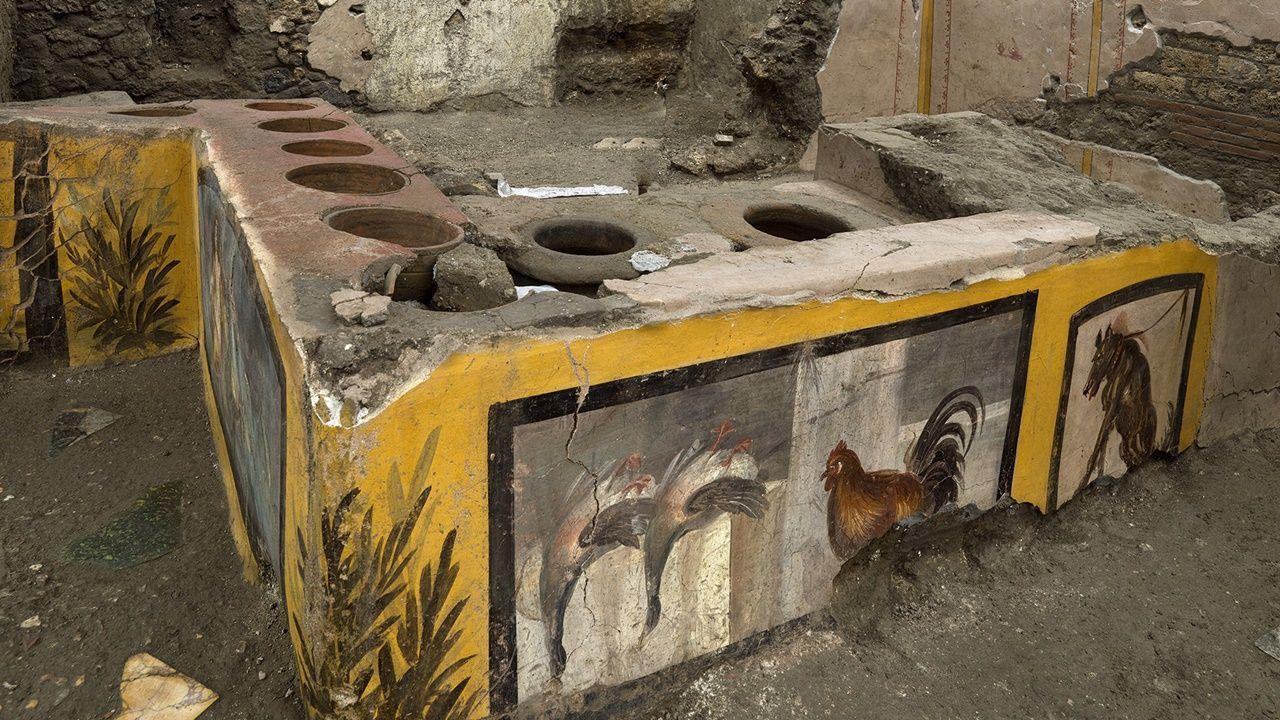 [Pick] 다채로운 벽화로 그려진 메뉴… 고대 로마의 '패스트 푸드 레스토랑'발굴