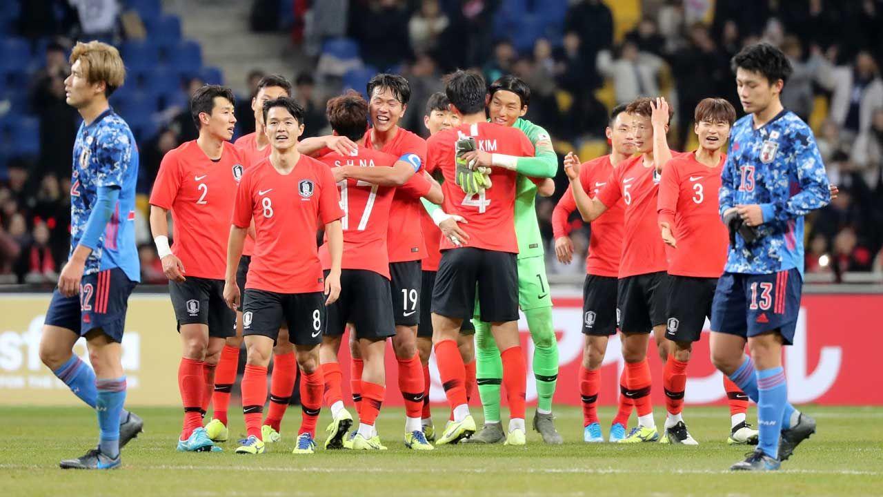 25 일 일본 요코하마에서 벤토 호 축구 국가 대표 '일 한전'