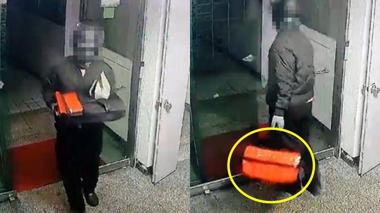 "[Pick] ""피자 봉투 부풀어 오르는 이유""… 현관에서 택배를 노리는 도둑"