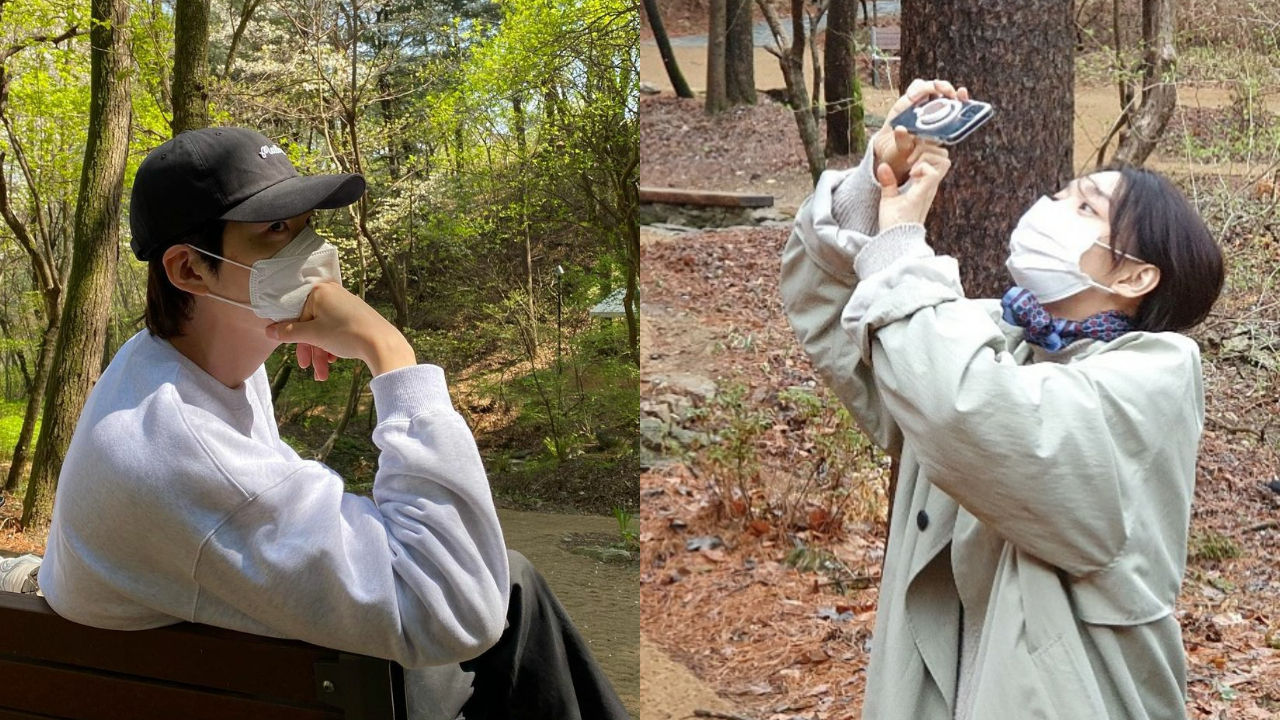 기사 대표 이미지:[SBS Star] Kim Woo Bin ♥ Shin Mina Spotted Enjoying a Hiking Date