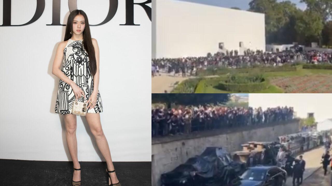 기사 대표 이미지:[SBS Star] VIDEO: Fans Go Wild to See BLACKPINK JISOO in Paris for Fashion Week