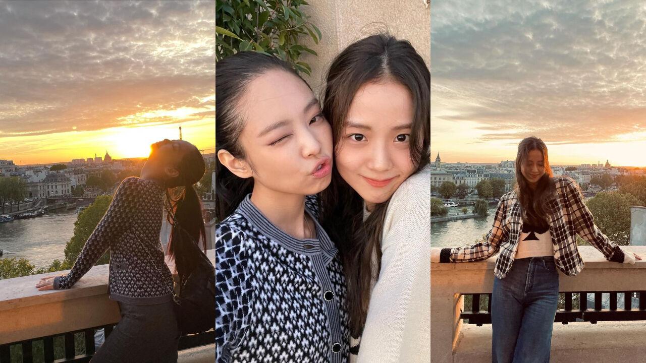 기사 대표 이미지:[SBS Star] BLACKPINK JENNIE·JISOO Meet & Hang Out in Paris Together