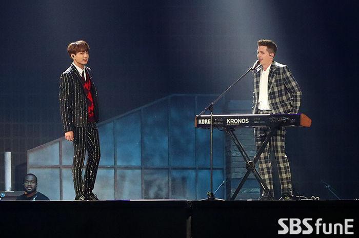 [E포토]방탄소년단 정국, '찰리 푸스와 한 무대에'