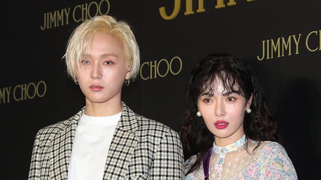 [E포토]현아-이던, '열애 인정 후 첫 공식석상'
