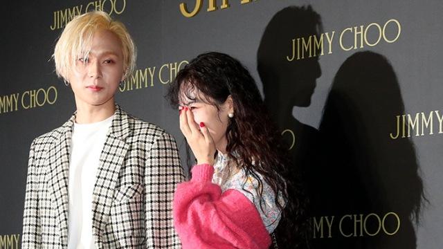 [E포토]현아-이던, '그림자도 아름다운 커플'