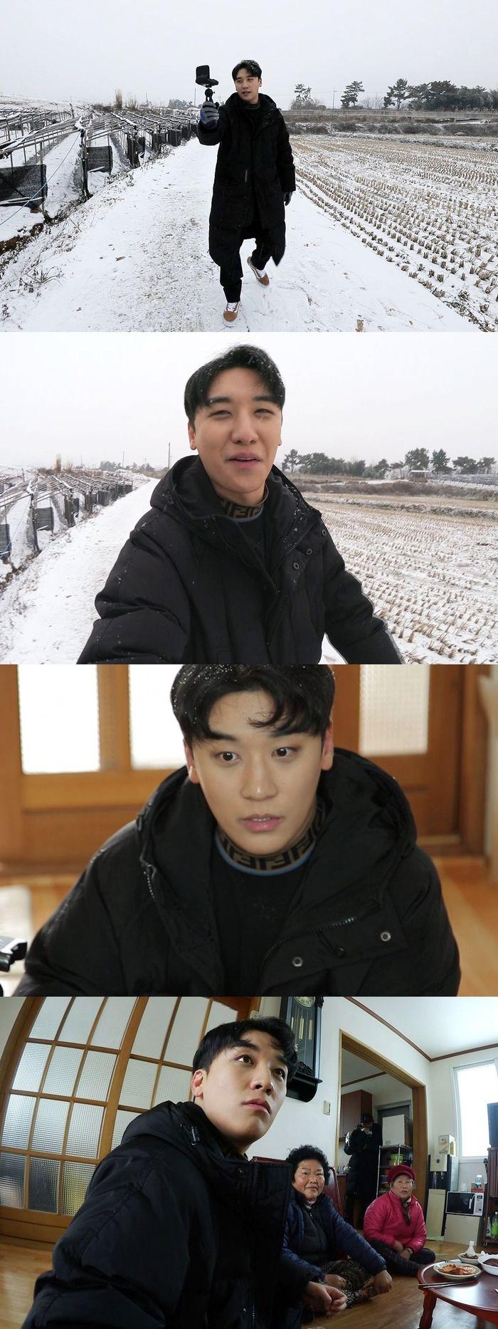 """승리, '가로채널' 채널 오픈…함박눈 맞으며 """"우리 형들 춥겠다"""" 빅뱅 걱정"""