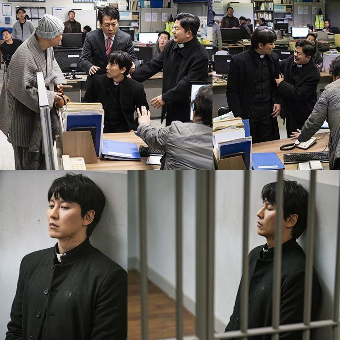 '열혈사제' 김남길, 경찰서 발칵 뒤집은 '문제적 신부님'