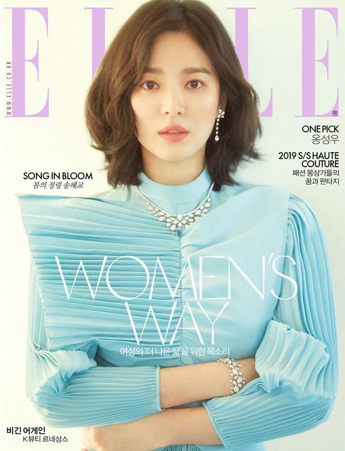 """""""살아있는, 봄의 여신""""…송혜교, 우아한 아름다움[화보]"""