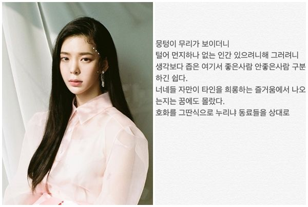 """""""호화를 그딴식으로 누리냐""""…장재인의 분노, 정준영 저격?  기본이미지"""