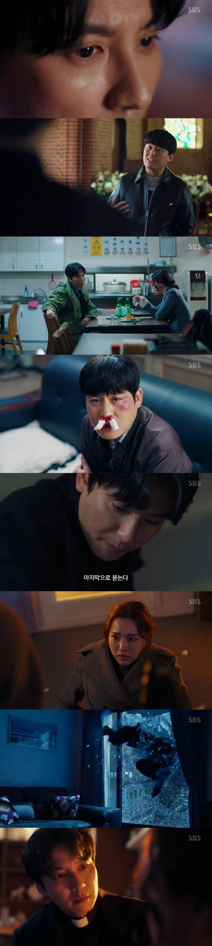 """[스브스夜] '열혈사제' 김남길, 유리창 깨고 이하늬 구했다 """"괜찮아 영감님?"""""""