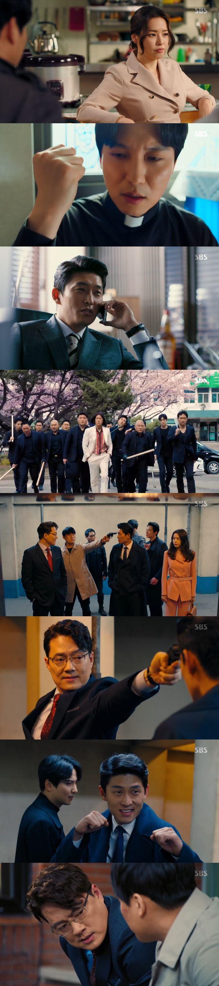 [스브스夜] '열혈사제' 김남길X고준, 김민재 상대로 2:2 몸싸움