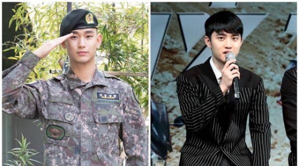 """""""김수현 오고, 디오 간다""""…오늘(1일) 입·제대 바통터치"""