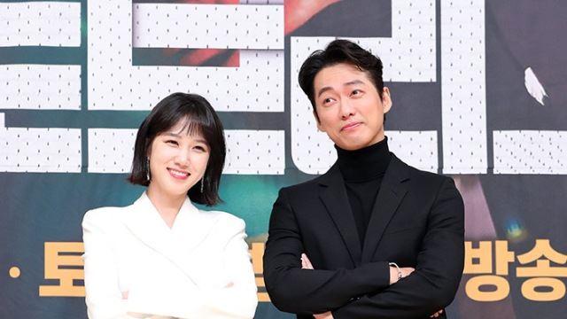 [E포토]박은빈-남궁민, '완벽한 흑백 커플'