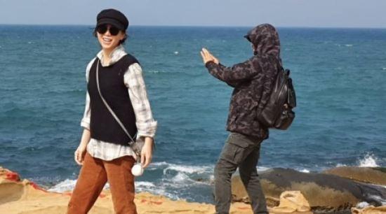 송윤아, 아들과 대만 여행…행복한 미소