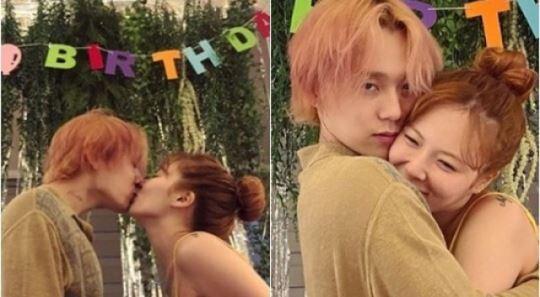 """""""고마워 자기"""" 현아♥던, 3년 째 함께한 로맨틱한 생일"""