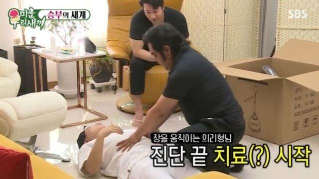"""'미우새' 김보성, 이상민에게 장운동 비법 전수…폭소한 이훈 """"효과 있나"""""""