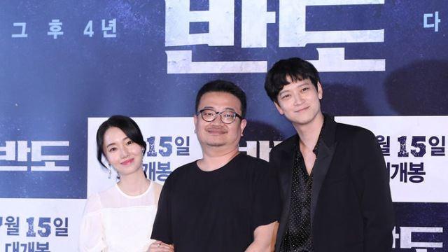 [E포토] 이정현-강동원, '반도의 연상호 감독과 함께'