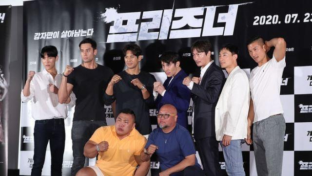[E포토] 영화 '프리즈너'의 감독과 주역들