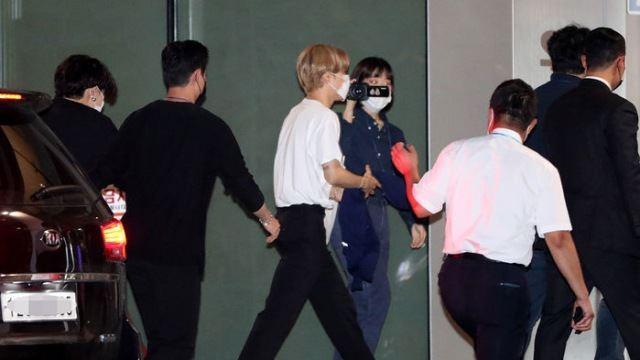 [E포토] 방탄소년단 정국-지민, '라디오 출근길'