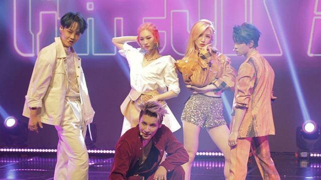 [E포토] 체크메이트, '타이틀곡 드럼으로 데뷔'