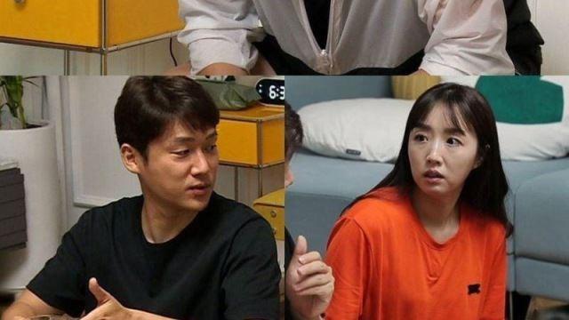 '동상이몽2' 오지영, '15년 경력' 살려 남편 홈 트레이닝…송창의 헛구역질까지