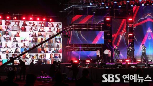 [E포토] 코엑스 옥상에서 열린 온택트 콘서트